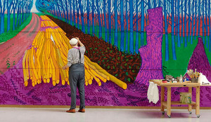 2530 EOS: DAVID HOCKNEY AT THE ROYAL ACADEMY OF ARTS