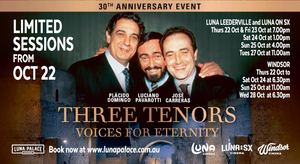 THREE TENORS VOICES OF ETERNITY 30th ANNIVERSARY SCREENINGS